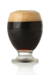 Cold Stout beer glass isolated