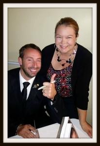 Philippe Lapeyrie et Catherine Ferland au lancement du Lapeyrie 2016 à Québec
