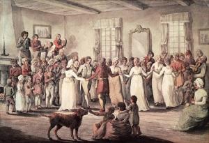 Danse au Château Saint-Louis, 1801. BAC, 1989-472-1.