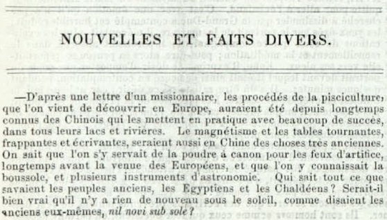 Extrait du Journal de l'instruction publique, mai 1857