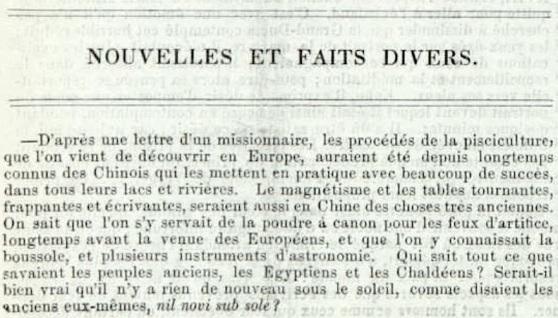 Extrait du Journal de l'instruction publique, mai 1857
